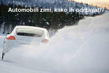 Automobili Zimi, Kako Ih Održavati?